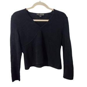 St. John Basics Santana Knit Ribbed V-Neck Sweater